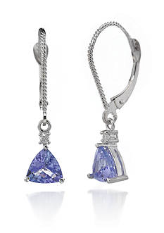 Belk & Co. 14k White Gold Tanzanite and Diamond Earrings