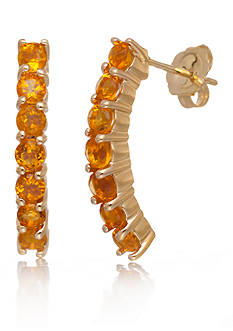 Belk & Co. Citrine Hoop Earrings in 14k Yellow Gold