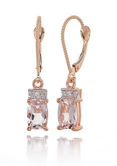 Belk & Co. Morganite and Diamond Earrings in 14k Rose Gold