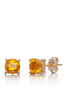 Belk & Co. Citrine Earrings in 14k Yellow Gold