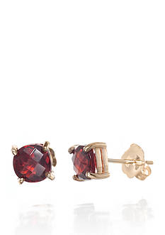 Belk & Co. Garnet Earrings in 14k Yellow Gold