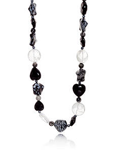 Belk & Co. Endless Onyx and Jasper Strand Necklace