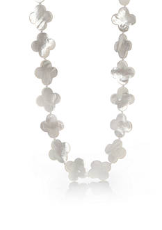 Belk & Co. Sterling Silver White Mother of Pearl Clover Necklace