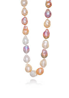 Belk & Co. Multi Color Freshwater Pearl Ripple Strand Necklace