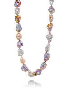 Belk & Co. Mauve Baroque Freshwater Pearl Strand Necklace