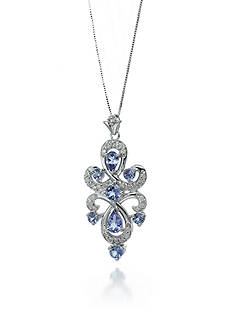 Belk & Co. 14k White Gold Tanzanite and Diamond Pendant