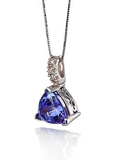 Belk & Co. 14k White Gold Tanzanite and Diamond Pendant
