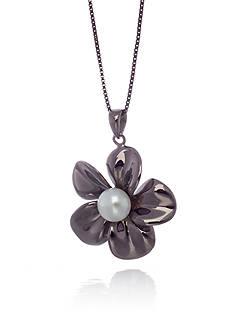 Belk & Co. Sterling Silver Freshwater Pearl Flower Pendant