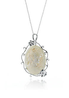 Belk & Co. Sterling Silver Mabe Pearl Cameo Pendant