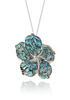 Belk & Co. Abalone Shell Pendant Necklace in Sterling Silver