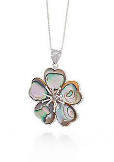 Belk & Co. Abalone Shell Flower Pendant in Sterling Silver
