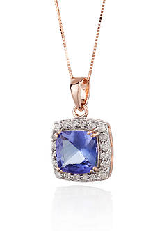 Belk & Co. 14k Rose Gold Tanzanite and Diamond Pendant