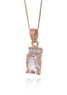 Belk & Co. Morganite and Diamond Pendant in 14k Rose Gold