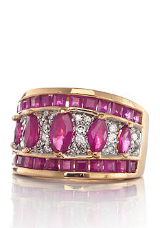Belk & Co. 14k Yellow Gold Ruby and Diamond Band