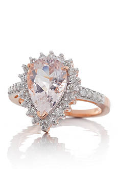 Belk & Co. Morganite and Diamond Ring in 14k Rose Gold