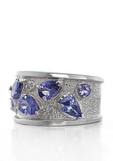 Belk & Co. Sterling Silver Tanzanite and Diamond Band