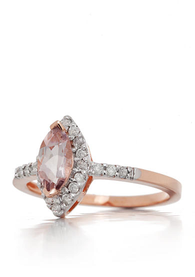 Belk & Co. Morganite and Diamond Ring in 14k Rose Gold