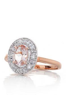 Belk & Co. 14k Rose Gold Morganite and Diamond Ring