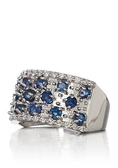 Belk & Co. 14k White Gold Sapphire and Diamond Band