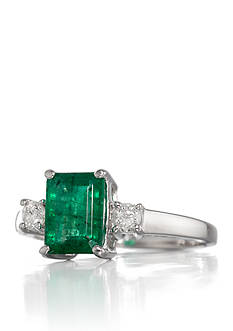 Belk & Co. 14k White Gold Emerald and Diamond Ring