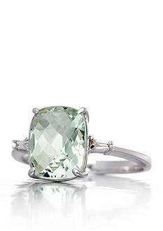 Belk & Co. Mint Quartz and Diamond Accent Ring in Sterling Silver