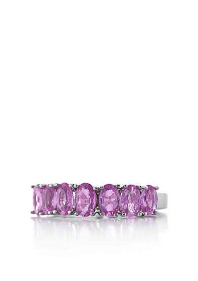 Belk & Co. Sterling Silver Pink Sapphire Ring<br>