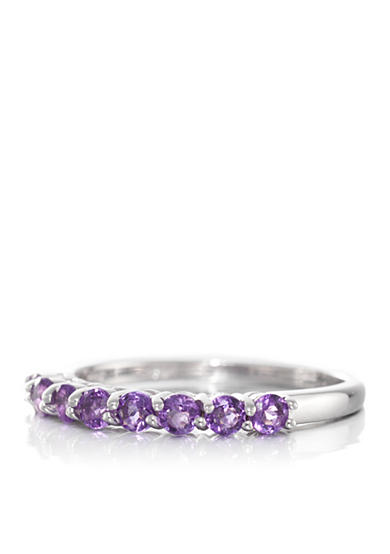 Belk & Co. Amethyst Ring in 14k White Gold