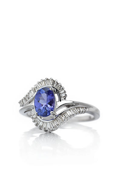 Belk & Co. 14k White Gold Tanzanite and Diamond Ring