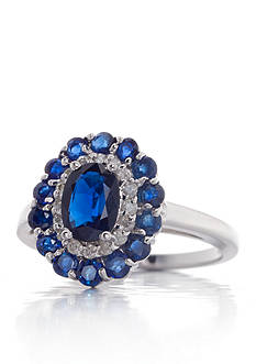 Belk & Co. Sapphire and Diamond Ring in 14k White Gold