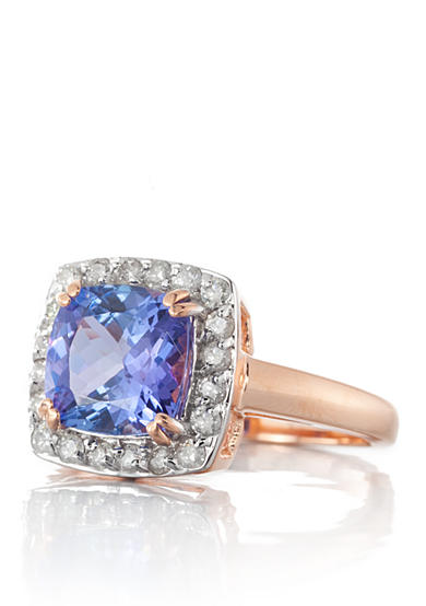 Belk & Co. 14k Rose Gold Tanzanite and Diamond Ring
