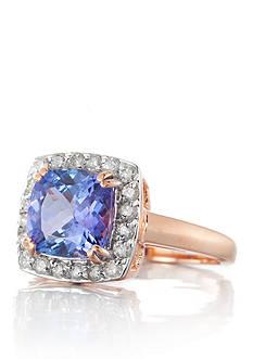 Belk & Co. 14k Rose Gold Tanzanite and Diamond Ring