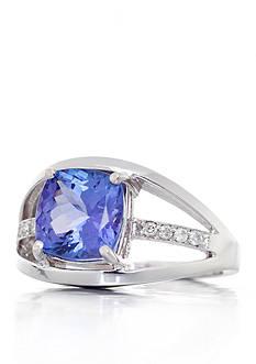 Belk & Co. Tanzanite and Diamond Ring in 14k White Gold