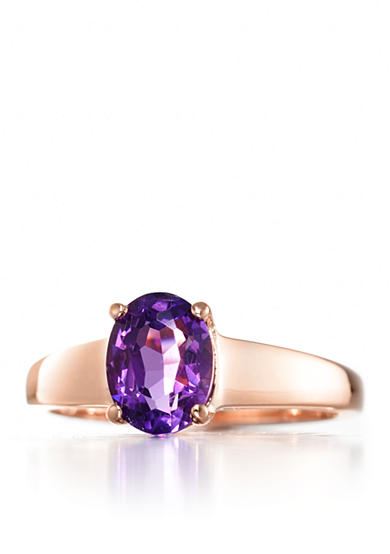Belk & Co. Amethyst Ring in 14k Rose Gold