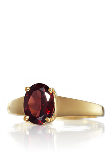 Belk & Co. Garnet Ring in 14k Yellow Gold