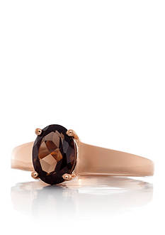 Belk & Co. Smoky Quartz Ring in 14k Rose Gold