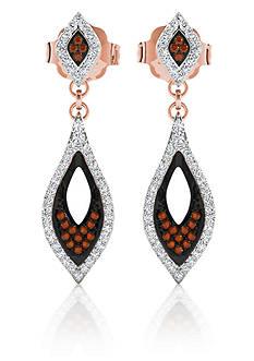 Belk & Co. 1/3 ct. t.w. Diamond Pave Drop Earrings in 10k Rose Gold