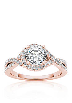 Belk & Co. 1 1/4 ct. t.w. Diamond Twist Engagement Ring in 14k Rose Gold