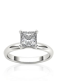 Belk & Co. 1 ct t.w. Princess Cut Solitaire Engagement Ring in 14k White Gold