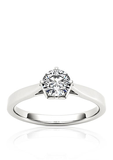 Belk & Co. 1/2 ct. t.w. Round Cut Diamond Engagement Ring in 14k White Gold