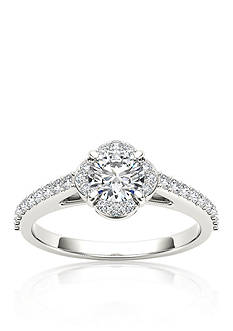 Belk & Co. 1 ct. t.w. Halo Diamond Engagement Ring in 14k White Gold