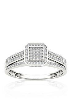 Belk & Co. 1/4 ct. t.w. Diamond Promise Ring in 10k White Gold