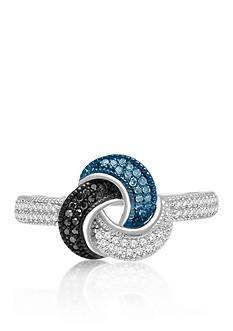 Belk & Co. 1/4 ct. t.w. Multi-Color Diamond Ring in Sterling Silver