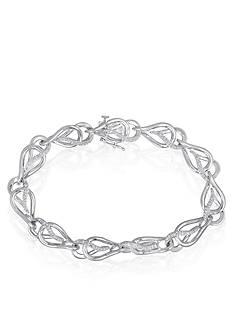 Belk & Co. Diamond Double Tear Drop Bracelet in Sterling Silver