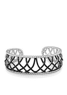 Belk & Co. Black Diamond Bracelet in Sterling Silver