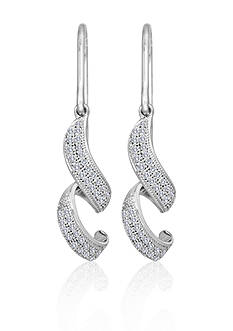 Belk & Co. Diamond Swirl Earrings in Sterling Silver