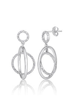 Belk & Co. Diamond Circle Earrings in Sterling Silver