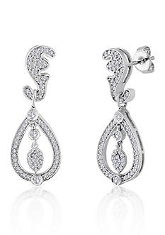 Belk & Co. Diamond Tear Drop Earrings in Sterling Silver