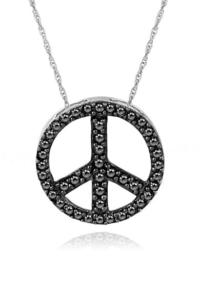 Belk & Co. Diamond Peace Sign Pendant in Sterling Silver