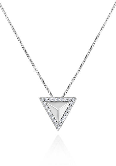 Belk & Co. Diamond Pyramid Pendant in Sterling Silver