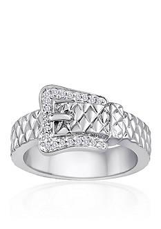 Belk & Co. Diamond Belt Buckle Ring in Sterling Silver